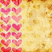 Ilustracja retro serc — Zdjęcie stockowe