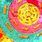 Abstract background with circle shapes — Stock Photo