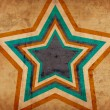 Grunge background with big star — Stock Photo
