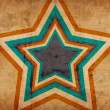 Stock Photo: Grunge background with big star