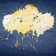 Royalty-Free Stock Photo: Stain on jeans background