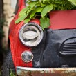 Foto Stock: Old red car