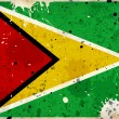 Grunge Guyana flag with stains - Stock Photo