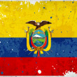 Grunge Ecuador flag with stains - Stock Photo