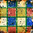 Grunge colorful squares — Stock fotografie #11966317