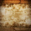 Stock Photo: Old paper on brown wood texture