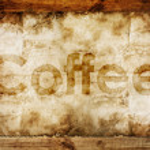 Coffee text — Stock Photo