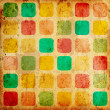Grunge colorful squares - Stock Photo