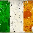 Grunge Ireland flag with stains — Stock Photo