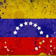 Grunge Venezuela flag with stains — Stock Photo