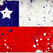 Grunge Chile flag with stains — Stockfoto
