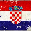 Grunge Croatia flag with stains — Stock Photo