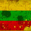 Grunge Lithuaniai flag with stains — Stock Photo
