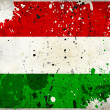 Grunge Hungary flag with stains — Stock Photo
