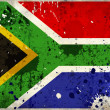 Grunge South Africa flag — Stock Photo