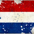 Grunge Netherlands flag with stains - Stock Photo