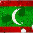 Stock Photo: Grunge Maldives flag