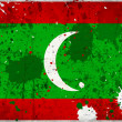 Foto Stock: Grunge Maldives flag