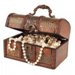 Age-old trunk with valuables — Stockfoto #11966560