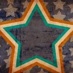 Grunge background with big star — Stock Photo