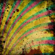 Grunge background with colorful stripes — ストック写真