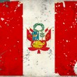 Grunge Peru flag with stains - Stock Photo