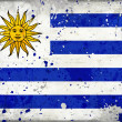 Grunge Uruguay flag with stains — ストック写真