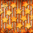White stars on grunge backgroundgrunge background — Stock Photo