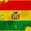 Grunge Bolivia flag with stains — Stock Photo