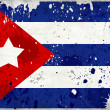 Grunge Cuba flag with stains - Stock Photo