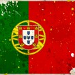 Grunge Portugal flag with stains — Stockfoto