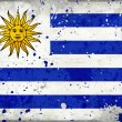 Grunge Uruguay flag with stains - Stock Photo