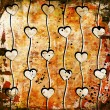 Foto Stock: Hearts on grunge