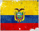 Granica ekwadorze flaga z plamy — Zdjęcie stockowe