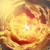 Illustration of sunset in sky — Stock Photo