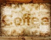 Káva text — Stock fotografie
