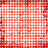 Grunge illustration of red picnic tablecloth — Foto Stock