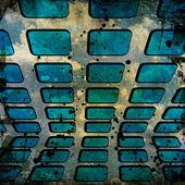 Grunge squares on grunge background — Stock Photo