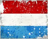 Flaga luksemburga nieczysty z plamami — Zdjęcie stockowe