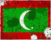 Grunge Maldives flag — Stock Photo