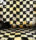 汚れたチェス部屋 — ストック写真