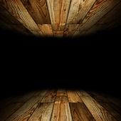 Habitación de madera con lugar para texto — Foto de Stock