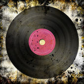 Black vinyl record — Foto Stock