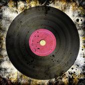 Black vinyl record — Stock fotografie