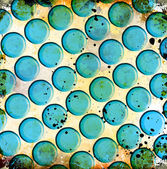 Bolhas azuis — Foto Stock