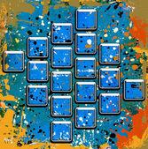 квадраты с пятна — Стоковое фото