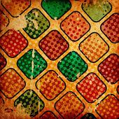 Kolorowe kwadraty nieczysty plamy — Zdjęcie stockowe