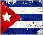 Bandera de cuba grunge con manchas — Foto de Stock