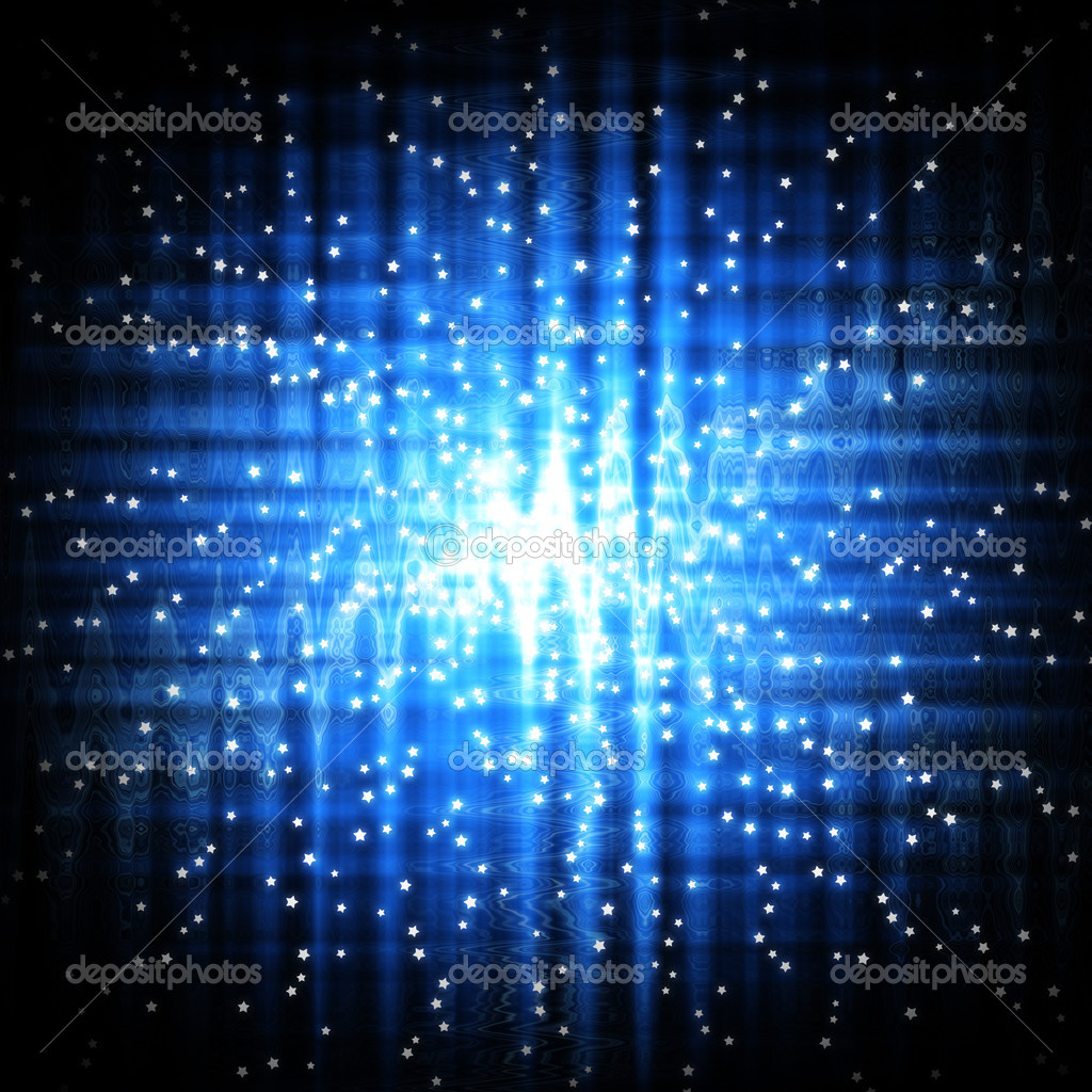Abstract stars on blue light background  Stock Photo #11967800