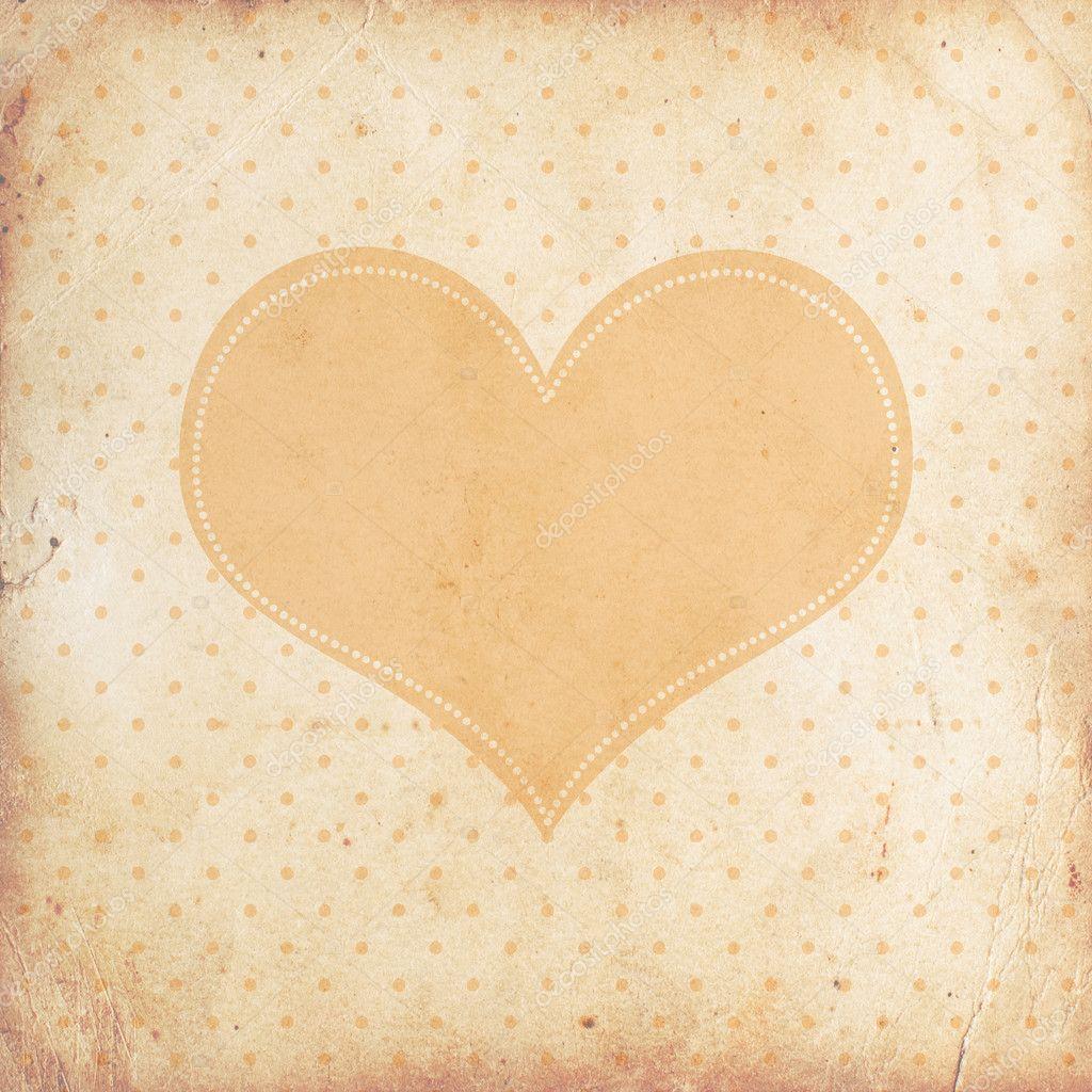 Vintage Heart Background Vintage background wit...